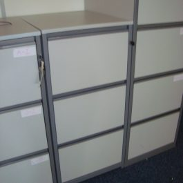 3 Drawer Filing Cabinet – Grey MFC