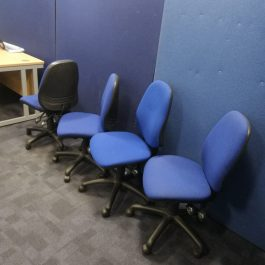 High Back Adjustable Operator Chair without Arms – Blue
