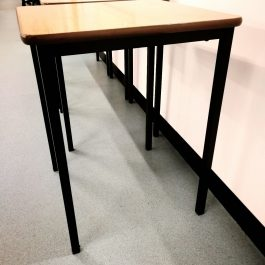 Exam Desk – dark wood