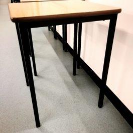 Exam Desk – dark wood