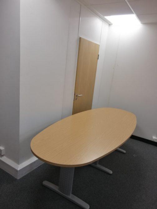 oak effect boardroom table 2.2m newbury