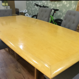 2400mm Boat Shaped Maple Veneer Boardroom Table