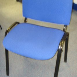 Stackable Meeting Chair without Arms, Blue
