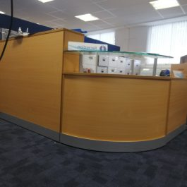 Reception Desk with Gallery Ledge