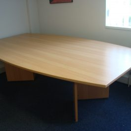 2600mm Beech Boat Shaped Meeting Table
