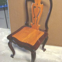 rosewood two tone dining chair