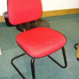 Medium Back Cantilever Meeting Chair, Red