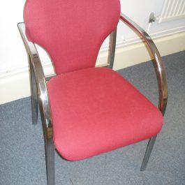 Rodano Meeting Chair, Red Fabric